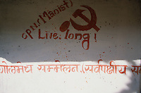 A Maoist propaganda tag, made in English specially for the foreign visitor coming to Rolpa District Nepal..-The full text reportage is available on request in Word format