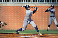John Clay Reeves (7) of the Rice Owls follows through on his swing against the Charlotte 49ers at Hayes Stadium on March 6, 2015 in Charlotte, North Carolina.  The Owls defeated the 49ers 4-2.  (Brian Westerholt/Four Seam Images)