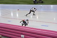 SPEEDSKATING: HAMAR: Vikingskipet, 29-02-2020, ISU World Speed Skating Championships, Sprint, 1000m Ladies, Nao Kodaira (JPN), Miho Takagi (JPN), ©photo Martin de Jong