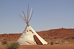 Native American teepee tent on the Navajo Indian Reservation, Arizona, USA. . John offers private photo tours in Monument Valley and throughout Arizona, Utah and Colorado. Year-round.