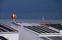 Badehuetten am Strand von Oostende, Flandern, Belgien
