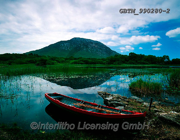Tom Mackie, LANDSCAPES, LANDSCHAFTEN, PAISAJES, FOTO, photos,+6x7, boat, boats, clouds, dinghy, Eire, EU, Europa, Europe, European, holiday destination, horizontal, horizontally, horizont+als, Ireland, Irish, lake, medium format, mirror image, mountain, peace, peaceful, peacefulness, reflect, reflected, reflecti+ng, reflection, rowboat, tarn, tourism, tranquil, tranquility, travel, vacation, water,6x7, boat, boats, clouds, dinghy, Eire+, EU, Europa, Europe, European, holiday destination, horizontal, horizontally, horizontals, Ireland, Irish, lake, medium form+,GBTM990280-2,#L#, EVERYDAY ,Ireland