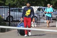 New Essex signing Monty Panesar arrives at Castle Park - Essex CCC vs Northamptonshire CCC - LV County Championship Division Two Cricket at Castle Park, Colchester Cricket Club - 20/08/13 - MANDATORY CREDIT: Gavin Ellis/TGSPHOTO - Self billing applies where appropriate - 0845 094 6026 - contact@tgsphoto.co.uk - NO UNPAID USE