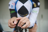 Tour of Belgium 2013.stage 3: iTT..double CX World Champion  Niels Albert (BEL) warming up for a TT.