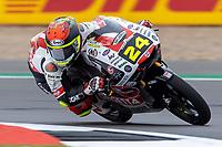 27th August 2021; Silverstone Circuit, Silverstone, Northamptonshire, England; MotoGP British Grand Prix, Practice Day; Sic58 Squadra Corse rider Tatsuki Suzuki on his Honda NSF250RW in the Moto3 category