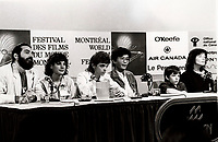 August 1987 - Montreal (Qc) CANADA - Press conference for KENNY (aka The Kid brother) :<br /> Claude Gagnon, Liane CurtisJesse Easterday Jr., Kiyoshi Fujimoto, Producter Fujimoto, Kenny Easterday, Caitlin Clarke