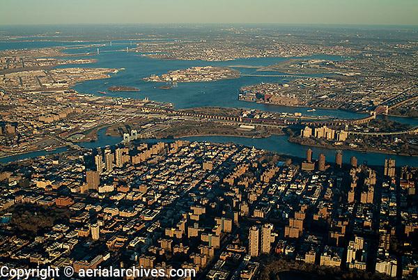 aerial photograph Harlem Manhattan, New York City