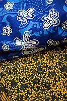 Yogyakarta, Java, Indonesia.  Batik Fabric Designs.