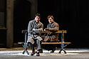 "English National Opera present their fourth revival of Jonathan Miller's production of Puccini's ""La Boheme"", in which Natalya Romaniw makes her ENO debut. Cast is: Natalya Romaniw (Mimi), Jonathan Tetelman (Rodolfo), Nicholas Lester (Marcello), Simon Butteriss (Benoit/Alcindoro), Nadine Benjamin (Musetta), David Soar (Colline), Bozidar Smiljanic (Schaunard). Picture shows: Jonathan Tetelman (Rodolfo), Nicholas Lester (Marcello)"