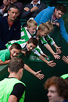 Yeovil Town 0 Queens Park Rangers 1, 21/09/2013. Huish Park, Championship. Young Yeovil fans attempting to high five players as they go down the tunnel. Photo by Paul Thompson.