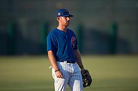 AZL Cubs 1 third baseman Luke Reynolds (16) during an Arizona League game against the AZL Padres 1 at Sloan Park on July 5, 2018 in Mesa, Arizona. The AZL Cubs 1 defeated the AZL Padres 1 3-1. (Zachary Lucy/Four Seam Images)
