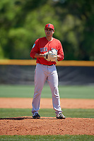 Boston Red Sox pitcher Rio Gomez (74) during a Minor League Spring Training game against the Tampa Bay Rays on March 25, 2019 at the Charlotte County Sports Complex in Port Charlotte, Florida.  (Mike Janes/Four Seam Images)