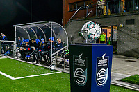 matchball pictured before a female soccer game between  Racing Genk Ladies and Eendracht Aalst on the 15 th matchday of the 2020 - 2021 season of Belgian Scooore Womens Super League , friday 5 th of March 2021  in Genk , Belgium . PHOTO SPORTPIX.BE   SPP   STIJN AUDOOREN