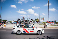 Castellon, SPAIN - SEPTEMBER 7: IAM car during LA Vuelta 2016 on September 7, 2016 in Castellon, Spain