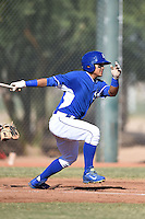 Kansas City Royals infielder Cristhian Vasquez (37) during an Instructional League game against the Cincinnati Reds on October 16, 2014 at Goodyear Training Facility in Goodyear, Arizona.  (Mike Janes/Four Seam Images)