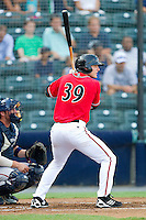 Roger Kieschnick #39 of the Richmond Flying Squirrels at bat against the Harrisburg Senators in game one of a double-header at The Diamond on July 22, 2011 in Richmond, Virginia.  The Squirrels defeated the Senators 3-1.   (Brian Westerholt / Four Seam Images)