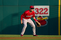 Worcester Red Sox second baseman Grant Williams (22) during a game against the Rochester Red Wings on September 4, 2021 at Frontier Field in Rochester, New York.  (Mike Janes/Four Seam Images)