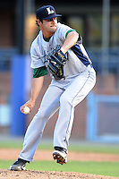 Lexington Legends starting pitcher Nick Tropeano #27 delivers a pitch during a game against the Asheville Tourists at McCormick Field on May 5, 2012 in Asheville, North Carolina . The Legends defeated the Tourists 5-1.  (Tony Farlow/Four Seam Images).