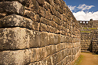 This quality level of construction is typical of the residential and popular areas of Machu Picchu, Peru, April 2007