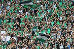 AS SAINT-ETIENNE vs FC LORIENT Football Match Ligue 1 Uber Eats. Saint-Etienne, France on August 8, 2021. In action Fans from Saint-Etienne.