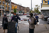 Borough Park, Brooklyn<br /> New York <br /> October 13, 2020<br /> <br /> In the heart of New York City's Covid-19 Red Zone outbreak with a 7.22% positive test rate.<br /> <br /> NYC has issued at least $172,000 in fines to people and institutions for violating the new COVID restrictions that went into effect last week; they'll remain in effect for at least 14 days minimum.
