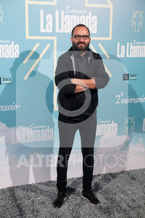 Paco Plaza attends La Llamada theater play in Madrid, Spain. April 15, 2015. (ALTERPHOTOS/Victor Blanco)
