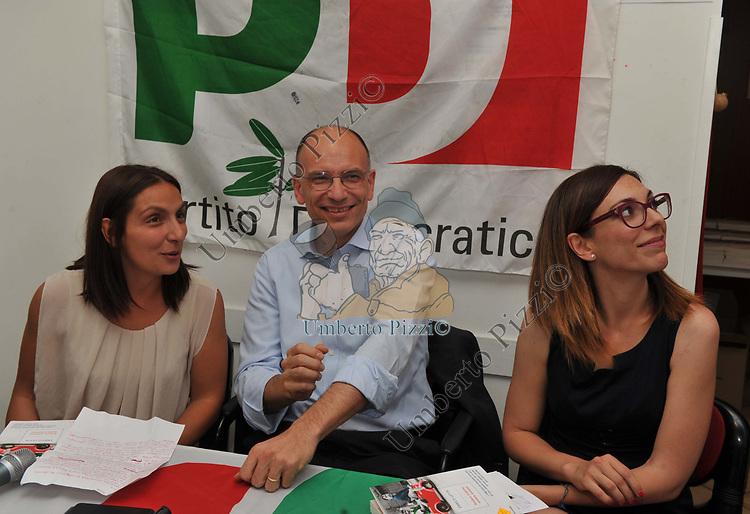 ENRICO LETTA<br /> SEZIONE DEL PD DI TESTACCIO ROMA 2015