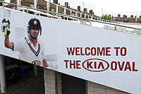 General view of the Welcome to The Kia Oval sign ahead of Surrey vs Essex Eagles, Royal London One-Day Cup Cricket at the Kia Oval on 23rd April 2019