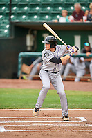 Grant Lavigne (40) of the Grand Junction Rockies bats against the Ogden Raptors at Lindquist Field on July 25, 2018 in Ogden, Utah. The Rockies defeated the Raptors 4-0. (Stephen Smith/Four Seam Images)