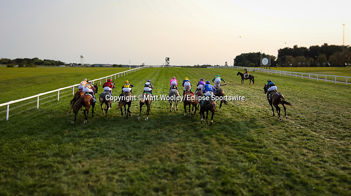 The Lir Jet (#2, Prince of Lir) wins the Irish Thoroughbred Marketing Franklin-simpson stakes (G2) at Kentucky Downs on 9.11.21. Tyler Gaffalione up, Brendan Walsh trainer, Qatar Racing and Racehorse Club owners.