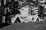 Gettysburg PA: View of McKeesport Boy's Brigade camping at Gettysburg. Brady Stewart was in Gettysburg with the Pittsburgh-area Boy's Brigade. They were in Gettysburg for 40th anniversary of the battle of Gettysburg. The Boy's Brigade was a church-based youth organization started in the late 1800s in Scotland.