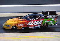 Sept. 17, 2010; Concord, NC, USA; NHRA funny car driver Bob Bode during qualifying for the O'Reilly Auto Parts NHRA Nationals at zMax Dragway. Mandatory Credit: Mark J. Rebilas/