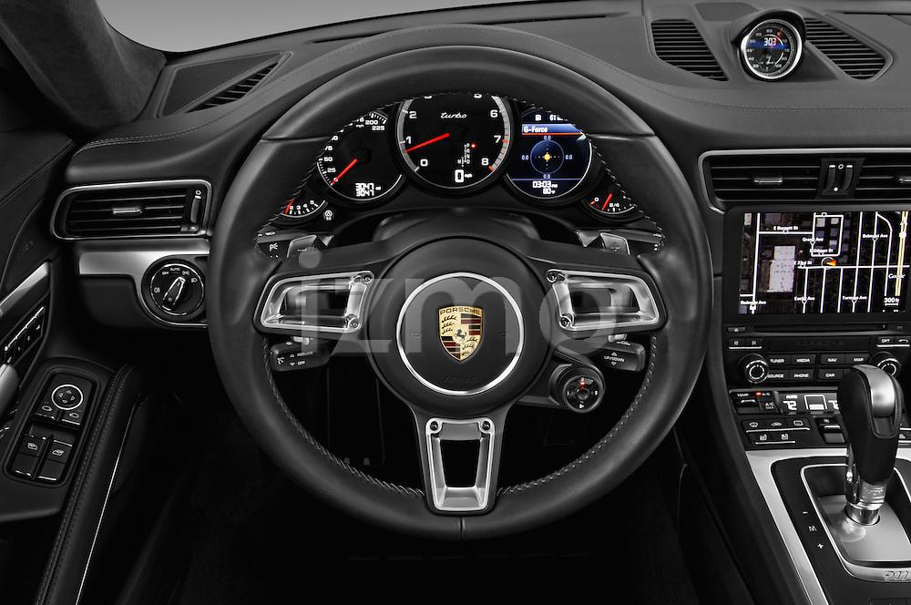 Car pictures of steering wheel view of a 2018 Porsche 911 Turbo 2 Door Coupe Steering Wheel