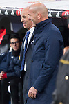 Real Madrid coach Zinedine Zidane and Fuenlabrada coach Antonio Calderon during return match of King's Cup between Real Madrid and Fuenlabrada at Santiago Burnabeu Stadium in Madrid, Spain. November 28, 2017. (ALTERPHOTOS/Borja B.Hojas)