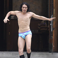 Russell Brand 2010 on the set of Arthur outside of St Bartholomew's Church on Park Ave Photo By John Barrett/PHOTOlink