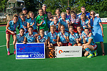 GBR - London, Great Britain, May 20: sHertogenbosch (black) defeats Uhlenhorster HC Hamburg (light blue) in the gold medal field hockey match at the EuroHockey Club Cup Women on May 20, 2018 at Surbiton HC in London, Great Britain. Final score 2-1. (Photo by Dirk Markgraf / www.265-images.com) *** Local caption ***