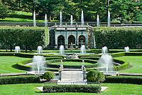 Main fountain garden, Longwood Gardens, Pennsylvania, USA