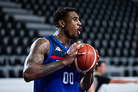 22nd February 2021, Podgorica, Montenegro; Eurobasket International Basketball qualification for the 2022 European Championships, England versus France;  Ovie Soko of Great Britain