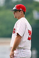 July 9th, 2007:  Charlie Pelt of the Batavia Muckdogs, Short-Season Class-A affiliate of the St. Louis Cardinals at Dwyer Stadium in Batavia, NY.  Photo by:  Mike Janes/Four Seam Images