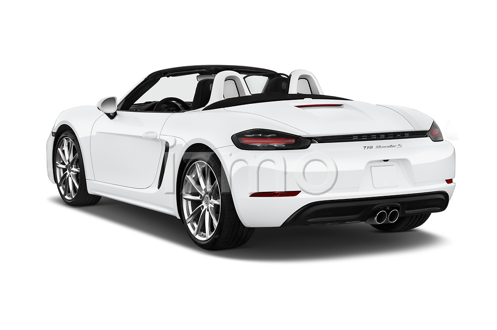 Car pictures of rear three quarter view of 2019 Porsche 718-Boxster S 2 Door Convertible Angular Rear