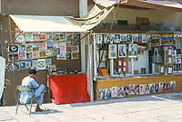 Abu Dhabi, UAE.  Photo and Picture Vendor.  Photographed March 1972.