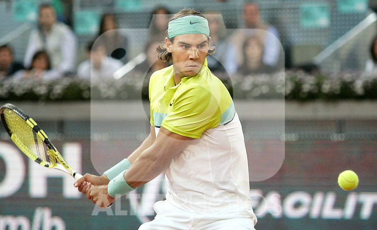Spain's Rafael Nadal during his Madrid Open quarter final match. May 15, 2009. (ALTERPHOTOS/Alvaro Hernandez)