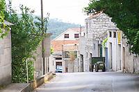 A view of the village street outside the winery. Toreta Vinarija Winery in Smokvica village on Korcula island. Vinarija Toreta Winery, Smokvica town. Peljesac peninsula. Dalmatian Coast, Croatia, Europe.