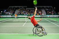 Rotterdam, The Netherlands, February 13, 2016,  ABNAMROWTT, Gordon Reid (GBR), Stefan Olsson (SWE)<br /> Photo: Tennisimages/Henk Koster