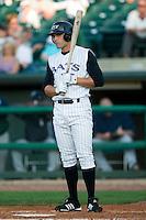 Louisville first baseman Joey Votto (5) at bat versus Charlotte at Louisville Slugger Field in Louisville, KY, Tuesday, June 5, 2007.