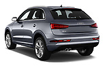 Car pictures of rear three quarter view of 2018 Audi Q3  2.0T-FWD-tiptronic-Premium-Plus  5 Door SUV angular rear