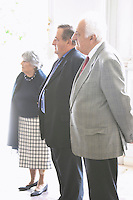 Jean Perromat (front) with his wife (back) and one of the brothers Chateau de Cerons (Cérons) Sauternes Gironde Aquitaine France