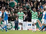 St Johnstone v Celtic…04.11.17…  McDiarmid Park…  SPFL<br />Olivier Ntcham celebrates Celtic's fourth goal<br />Picture by Graeme Hart. <br />Copyright Perthshire Picture Agency<br />Tel: 01738 623350  Mobile: 07990 594431