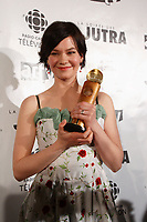 Fanny Mallette, winner of the Jutra for Best supporting actress , for CHEECH.<br /> <br /> Jutra -meilleure actrice de soutien for CHEECH<br /> <br /> photo : Pierre Roussel (c)  Images Distribution