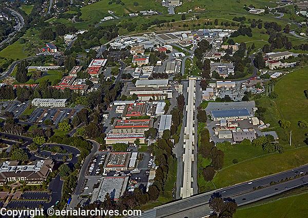 aerial photograph Stanford Linear Accelerator Menlo Park, California